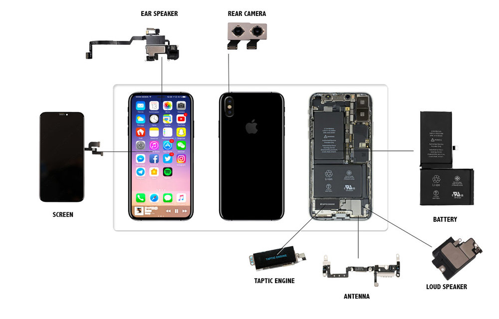 iPhone X Parts Replacement Videos