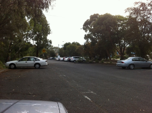 Train station car park in a leafy suburb on a working week day!