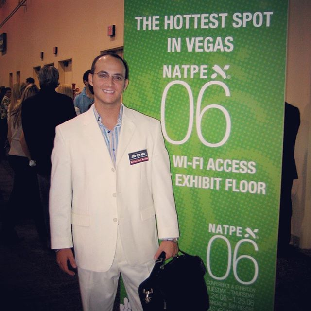 "#TBT rocking the Miami Vice style white suite at @natpecontentfirst in Vegas 2006 with my luxury lifestyle TV series ""Symbols of Success"" #hotsosTV #symbolsofsuccess #natpe #throwbackthursday #miamivice #videoagency #tvproducer #media #entrepreneur #producerlife"