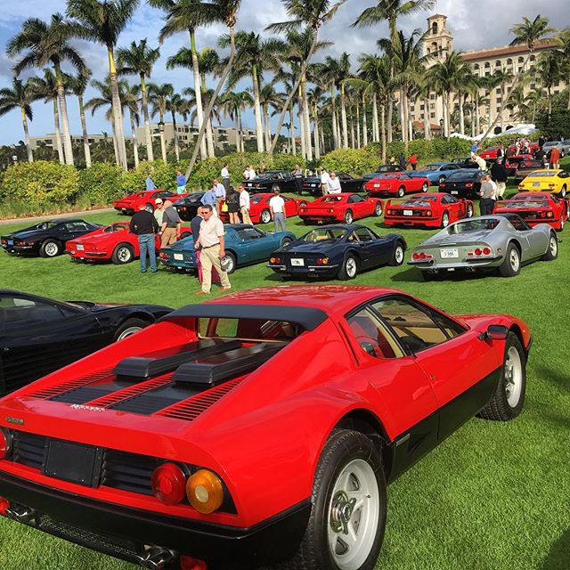 Cavallino Classic at the Breakers. Always love seeing the best Ferrari's on display. #ferrari #cavallinoclassic #breakers #ferrariclub #exotics #carshow #luxurylifestyle