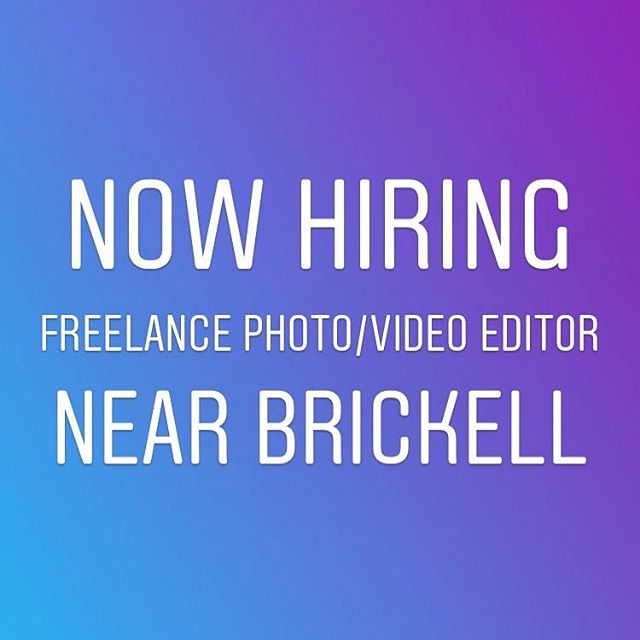 Look at my page to see what we do. If you want to get involved with some of the coolest 🎬📷🎥 productions around - then here's your opportunity.  College grads, freelance pros, part-time work on a variety of projects.  Send me link to your work as I'm interviewing people next week. #jobinterview #videoeditor #fcpx #adobepremiere #brickell #postproduction