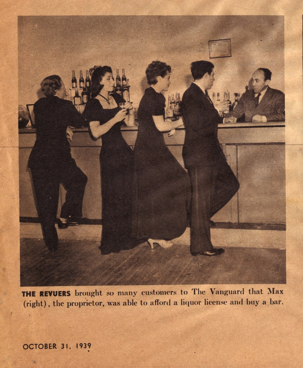The Revuers included Judy Holiday, Adolph Green & Betty Comden