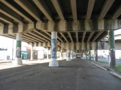 Under the overpass today (2010). Source: Sara Zewde