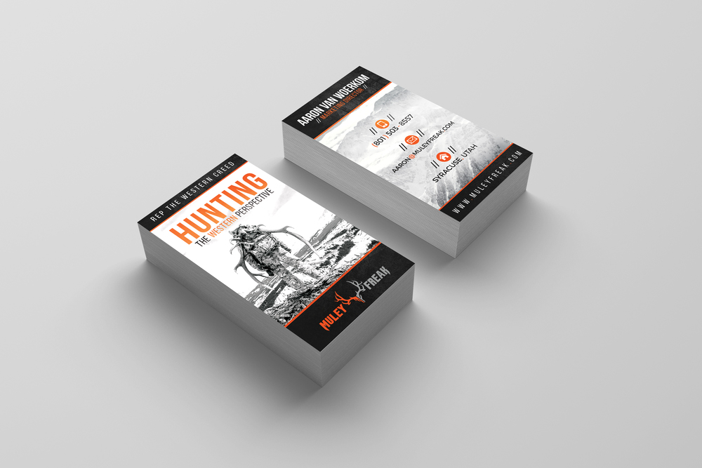 Muley freak business cards v1 cameron sticka graphic web design muley freak hunting business cards colourmoves