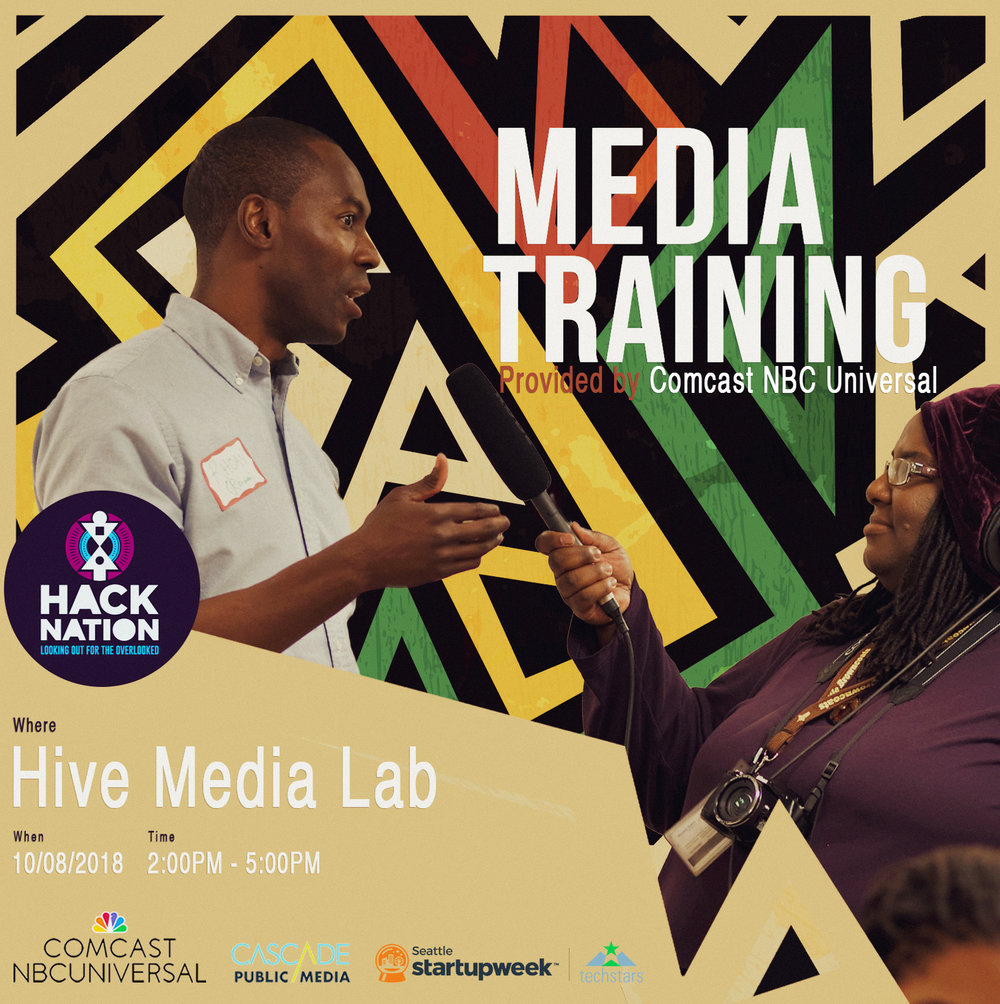 Monday, October 8 2p - 5p Hive Media Lab
