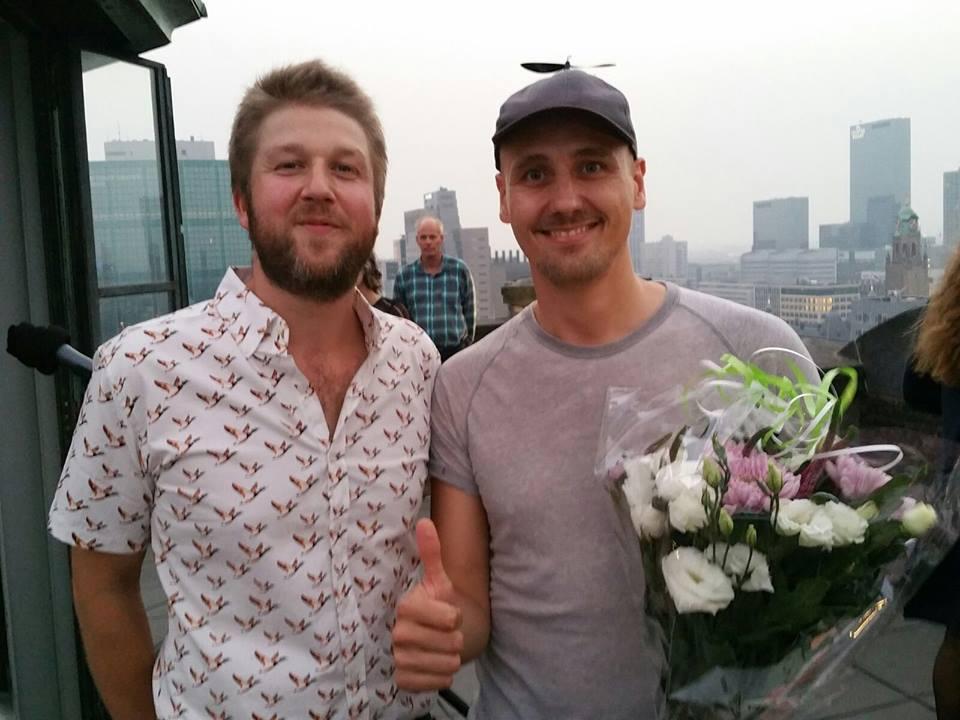 Winnaar van de Juryprijs: Woes Ploum (rechts)