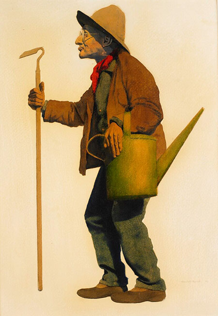 the gardener, maxfield parrish,1906, birmingham museum of art.
