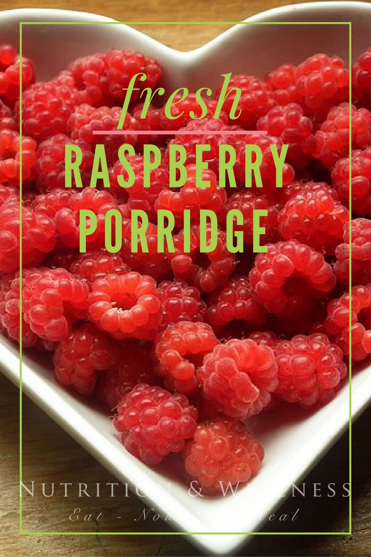 The fresh flavour of pureed raspberries contrasts with the cool, richness of the porridge made with a dash of cream. This is certainly a different take on a morning breakfast classic.