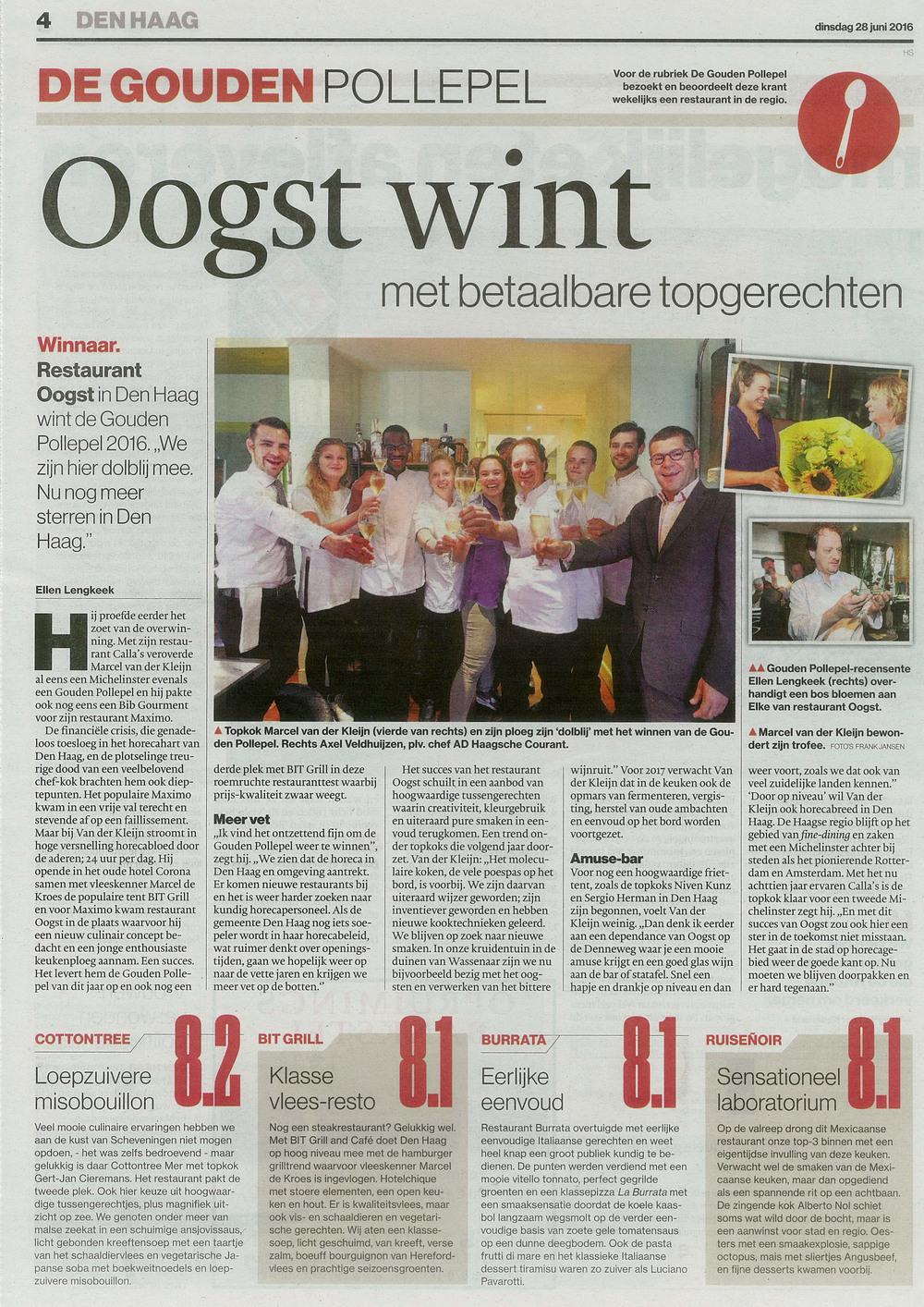 Artikel AD Haagsche Courant