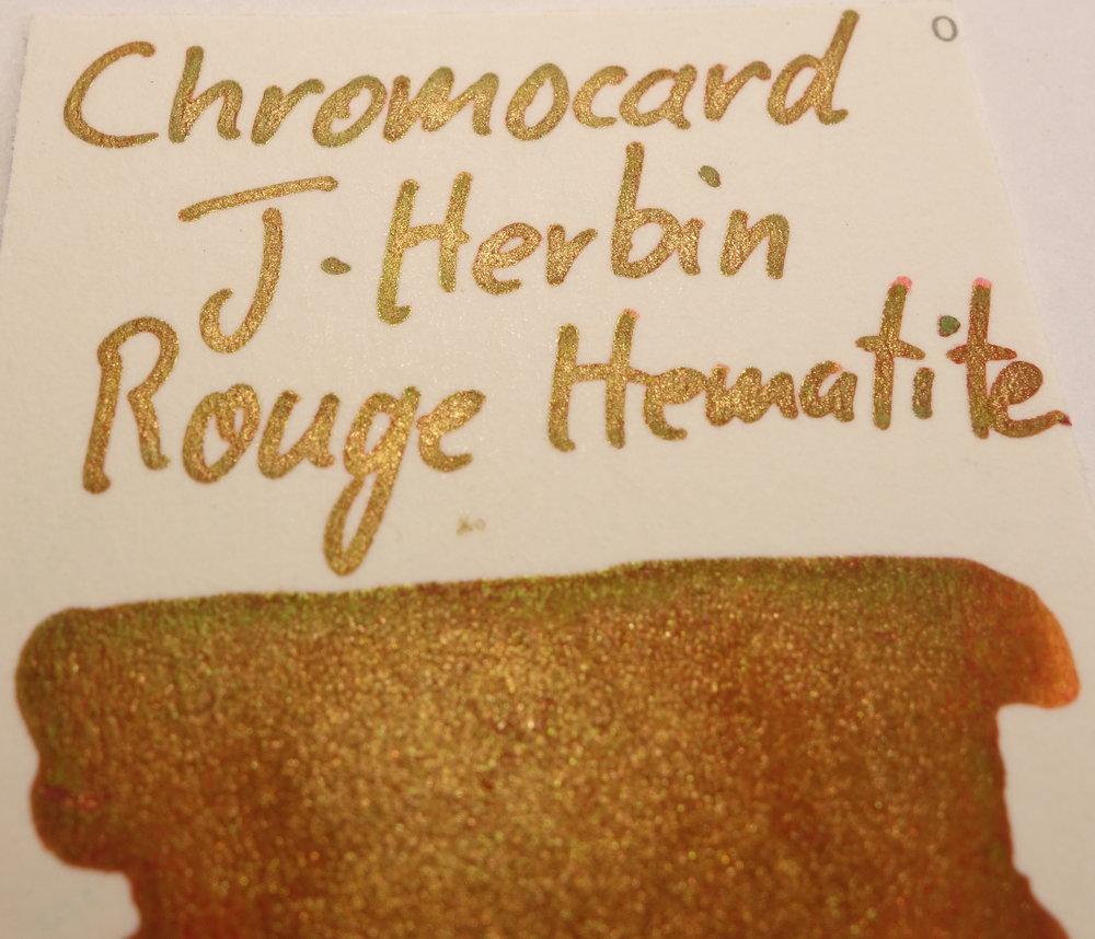 J. Herbin Rouge Hematite Sheen Chromocard.JPG
