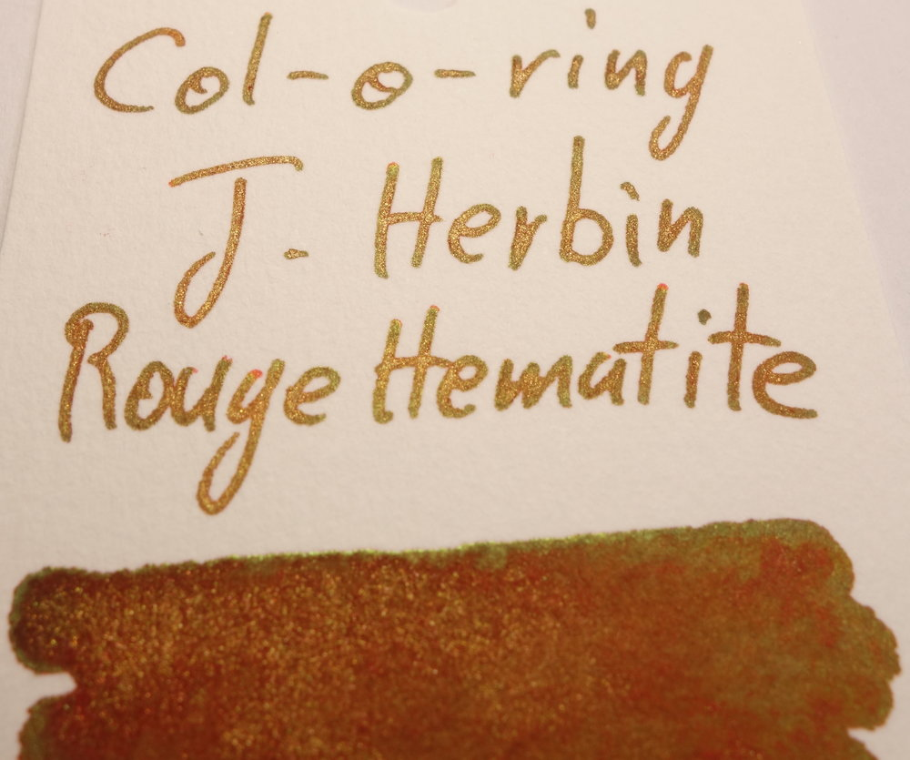 J. Herbin Rouge Hematite Sheen Col-o-ring.JPG