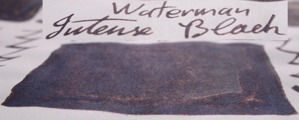 Waterman Intense Black (Tomoe River)