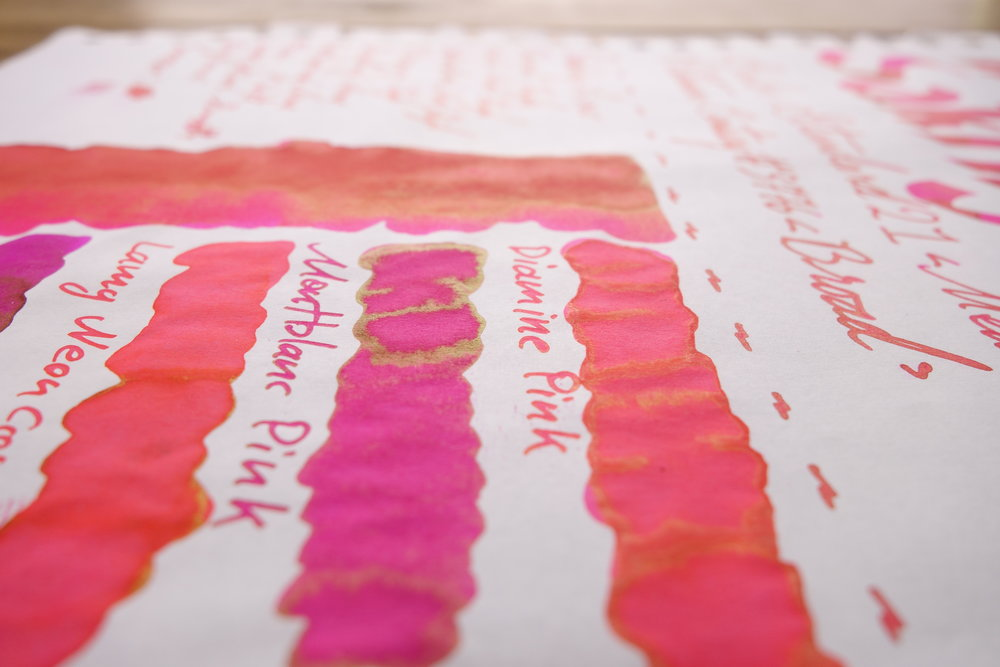 Diamine & Montblanc Pink