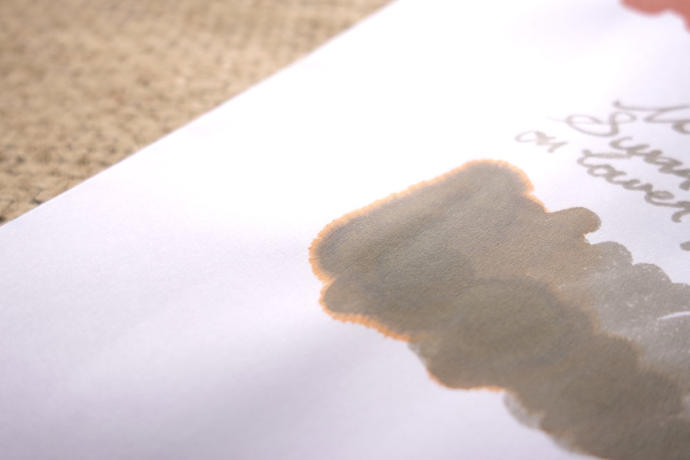 Chromatography on bad copy paper