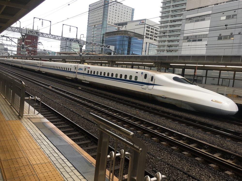 Shinkansen (Bullet Train) in Shizuoka