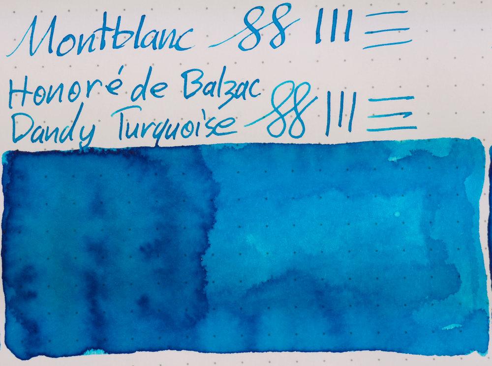 Rhodia: Montblanc Honore de Blazac Dandy Turquoise