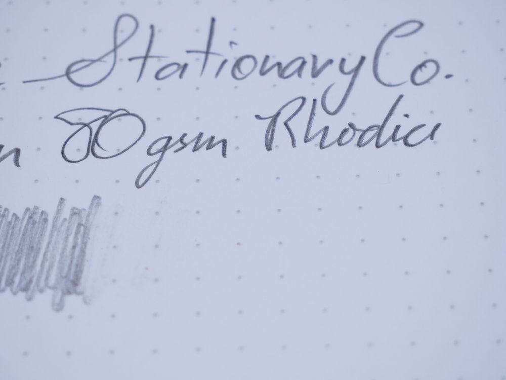 Pencil on Rhodia