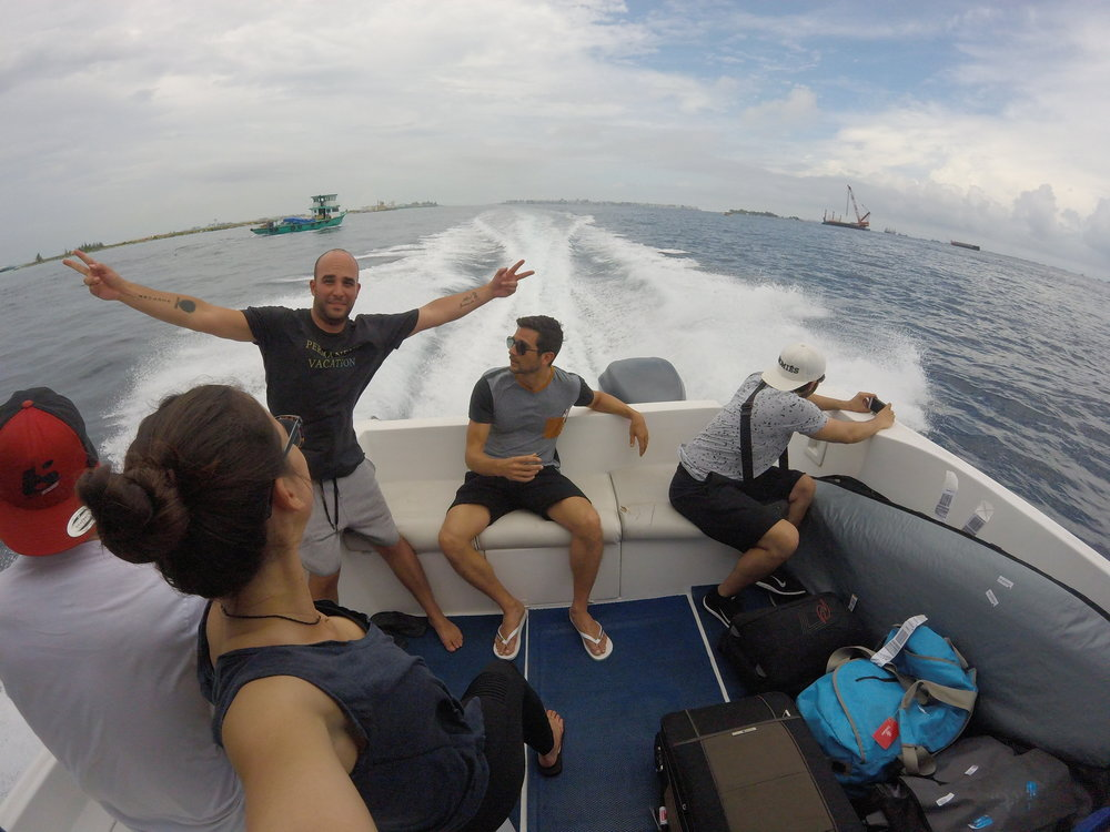 40min boat trip from Male to Thulusdhoo