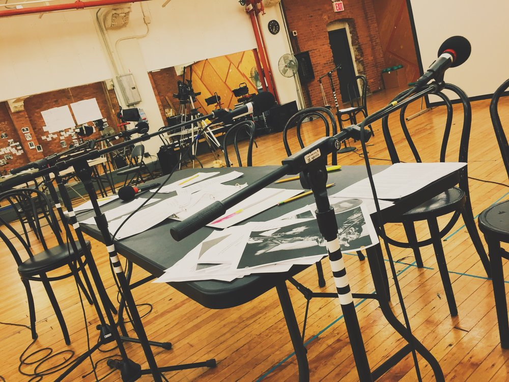 Mics behind the table - KID Workshop NY