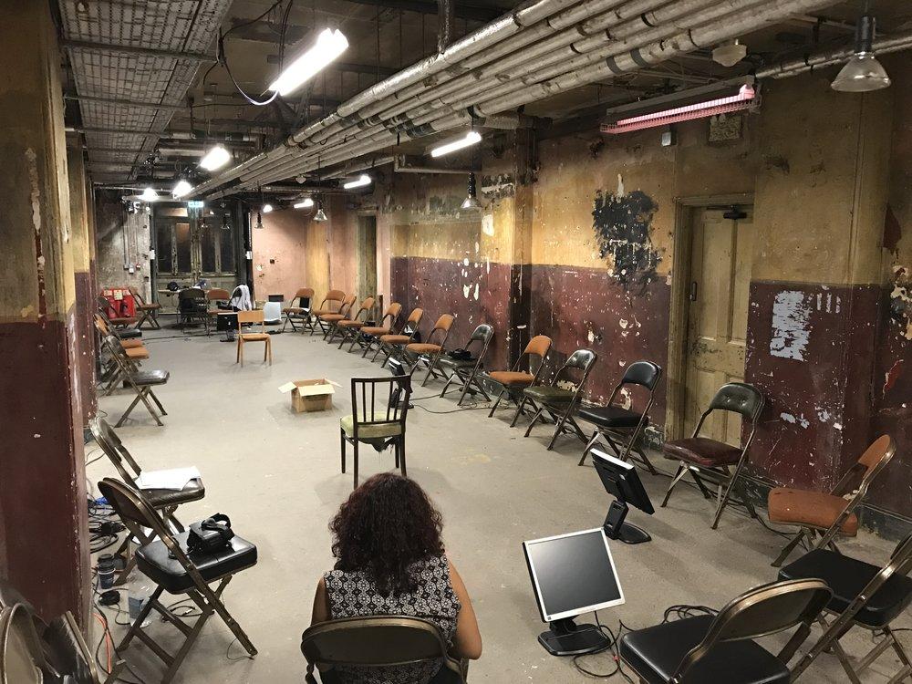 Frogman rehearsal setup 2017
