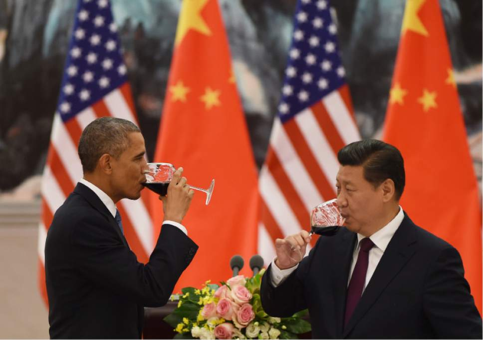 US President cheers