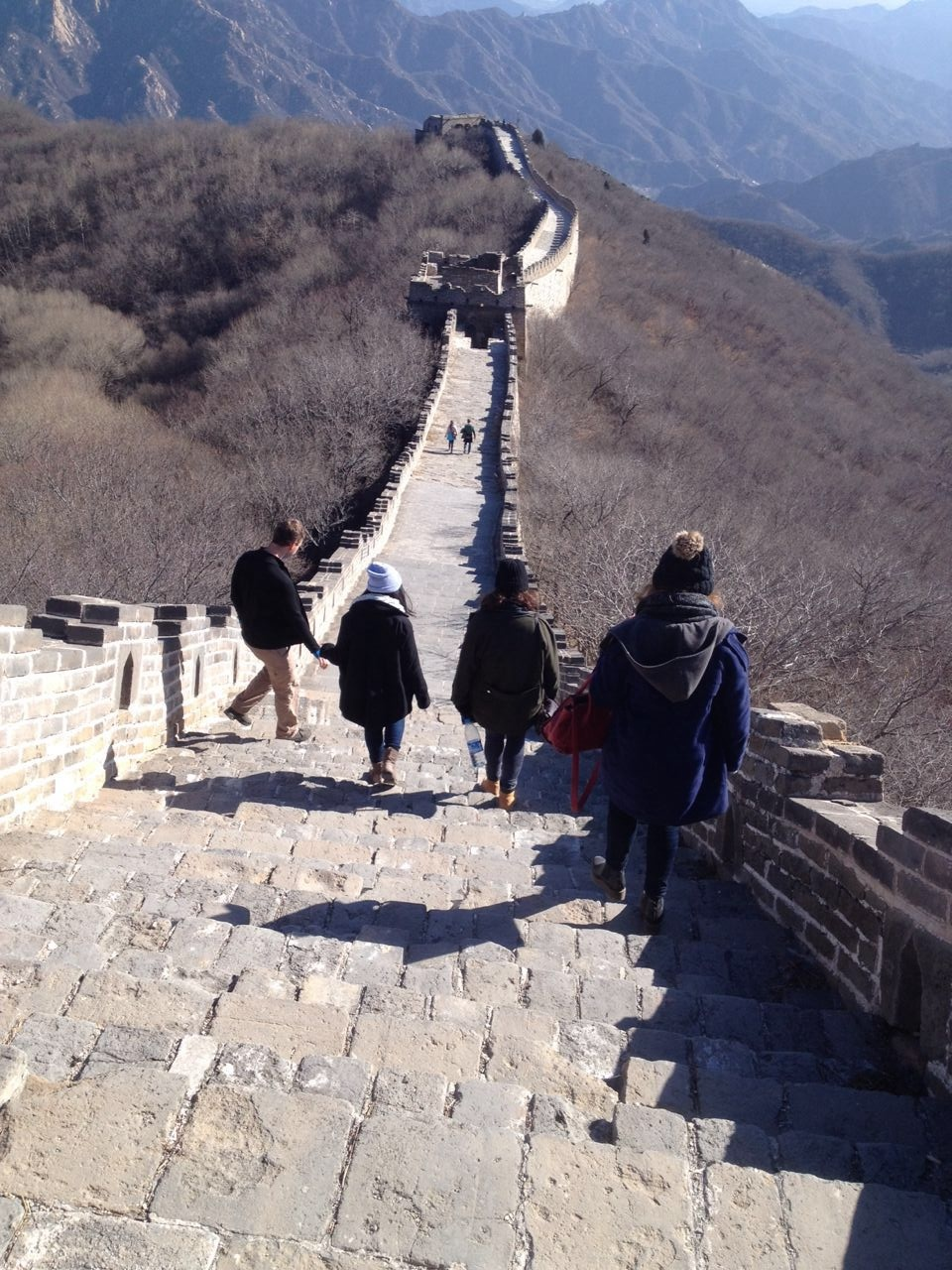 Great Wall of China Walking Down