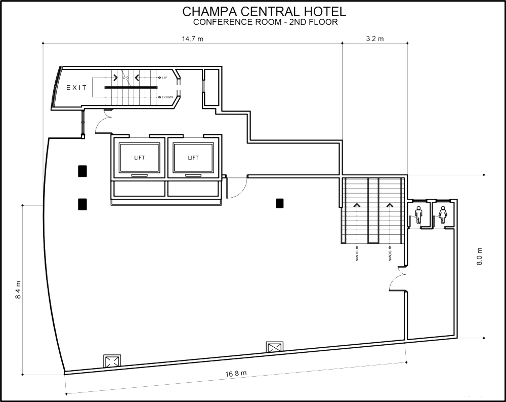 2nd Floor, Meeting Room - Open Floor Plan