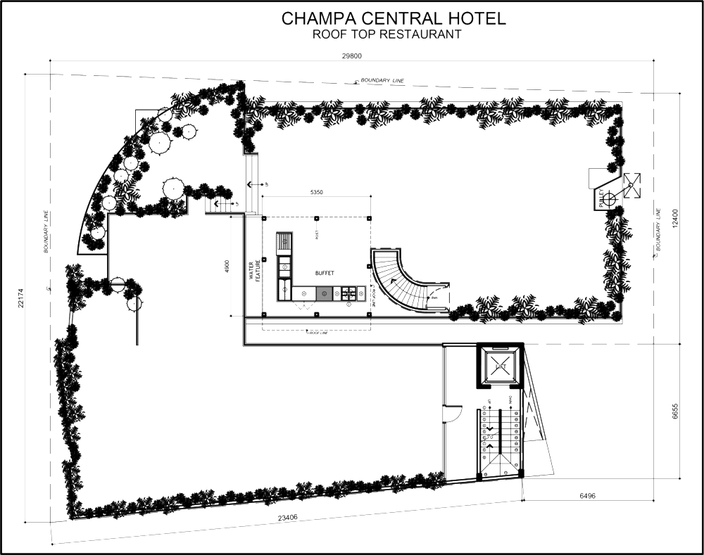 Roof Top Restaurant - Floor Plan