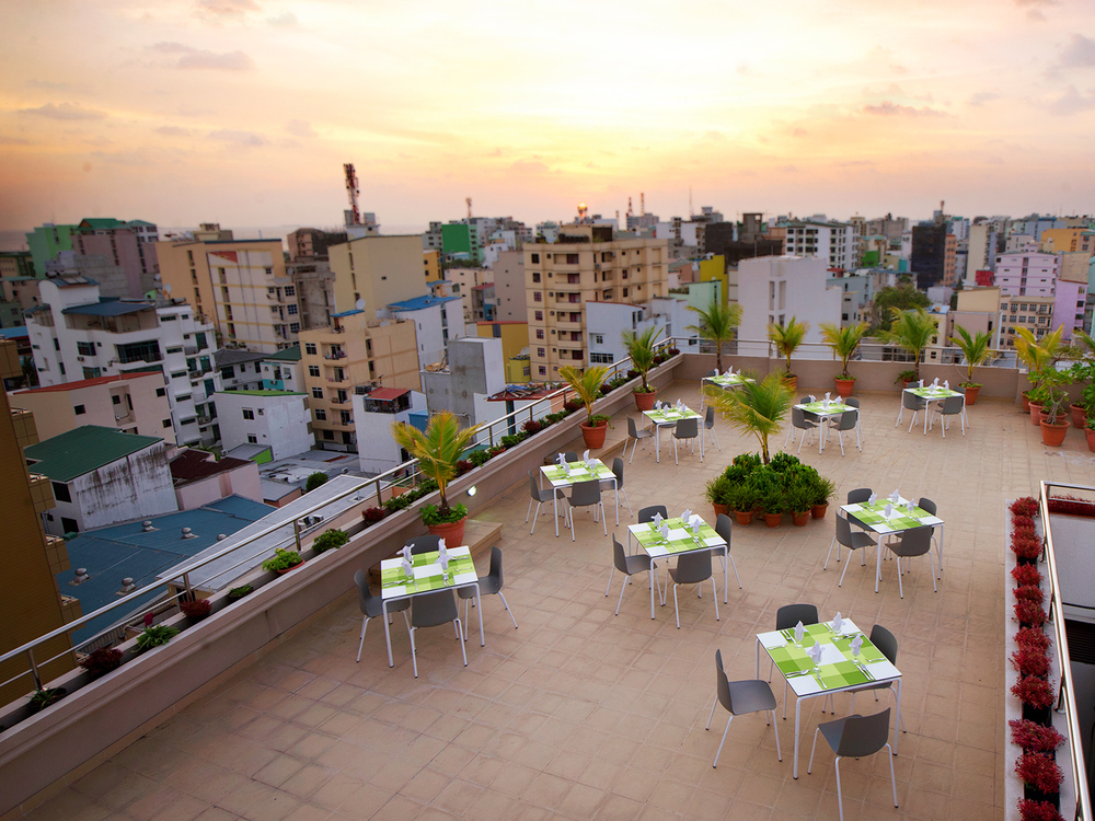 Roof Top Restaurant - Square Style - Seating Capacity 116 Guests