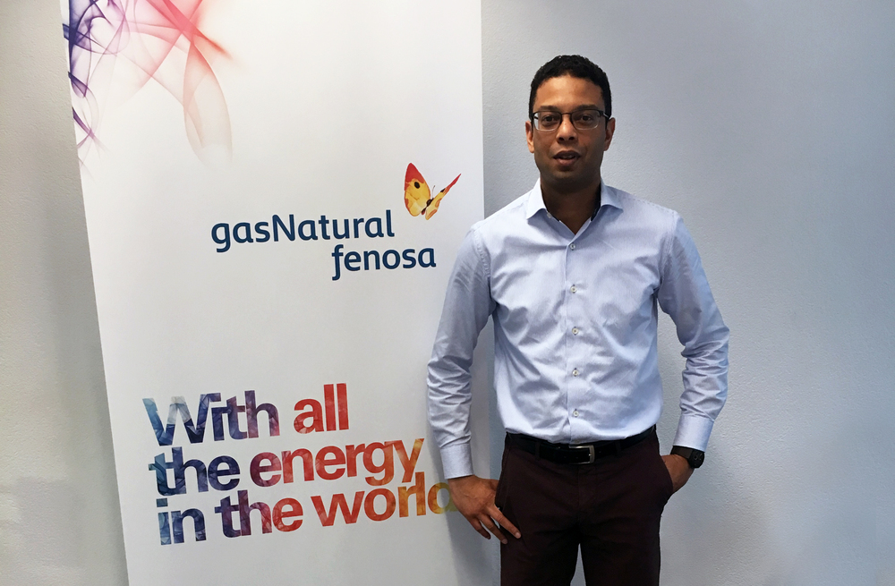 Ashwin Imambaks, Sales Manager van Gas Natural Fenosa