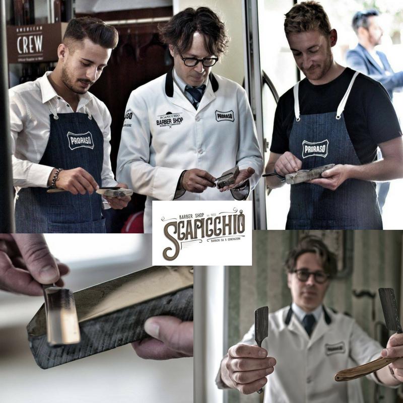 Workshop 'Slijpen ouderwetse klapmes'Door Luigi Scapicchio (English)Een van de oudste actieve barbierfamilie in de wereld, de familie Scapicchio, is een expert in het traditionele Italiaanse scheren mét het ouderwetse klapmes. Op BarberSociety Live zullen zij namens Proraso/Intervoll een workshop geven hoe je het authentieke klapmes scherp houdt volgens traditionele technieken. Neem je scheermes dus mee, dan slijpen zij het gratis voor jou! -