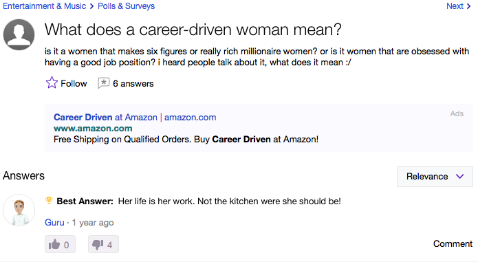 career driven definition