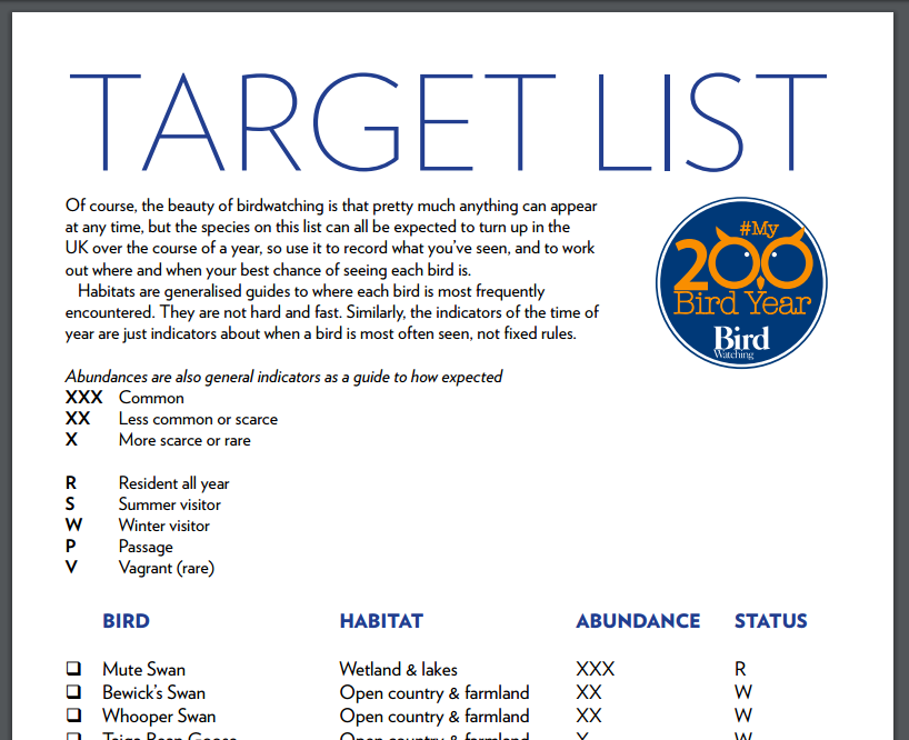 DOWNLOAD THE FREE TARGET LIST