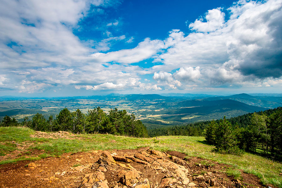 Landscape view from Black Peak on Divcibare Mountain. Pic: Marko Rupena/Alamy