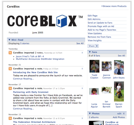 CoreBlox, Inc. Fan Page