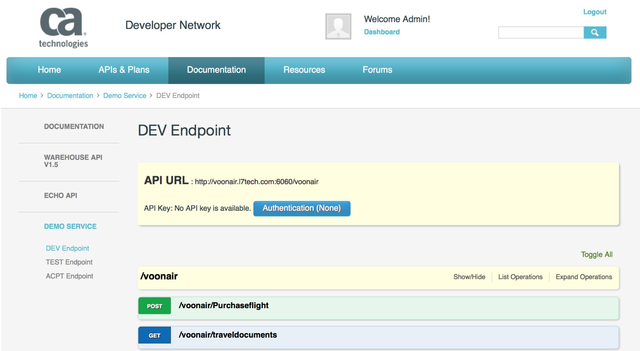 CA API Developer Portal: API Lifecycle Management — CoreBlox