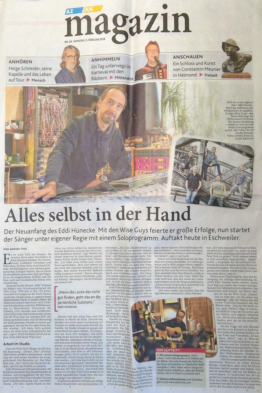 Toller Artikel in der überregionalen Wochenendbeilage der Aachener Zeitung.