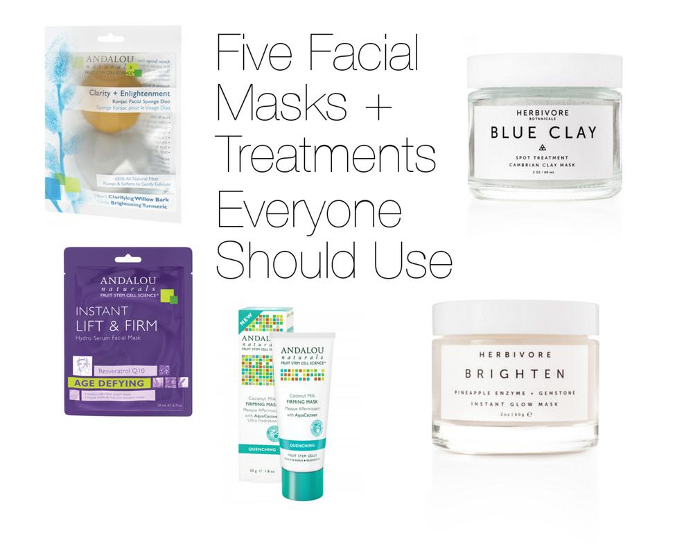 Five Facial Masks + Treatments Everyone Should Use