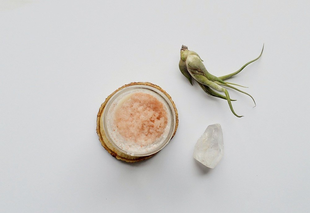 DIY Energizing Himalayan Salt Scrub