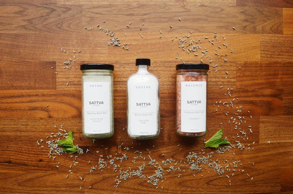 Sattva Pure Healing Bath Salts to Soothe + Detox + Balance