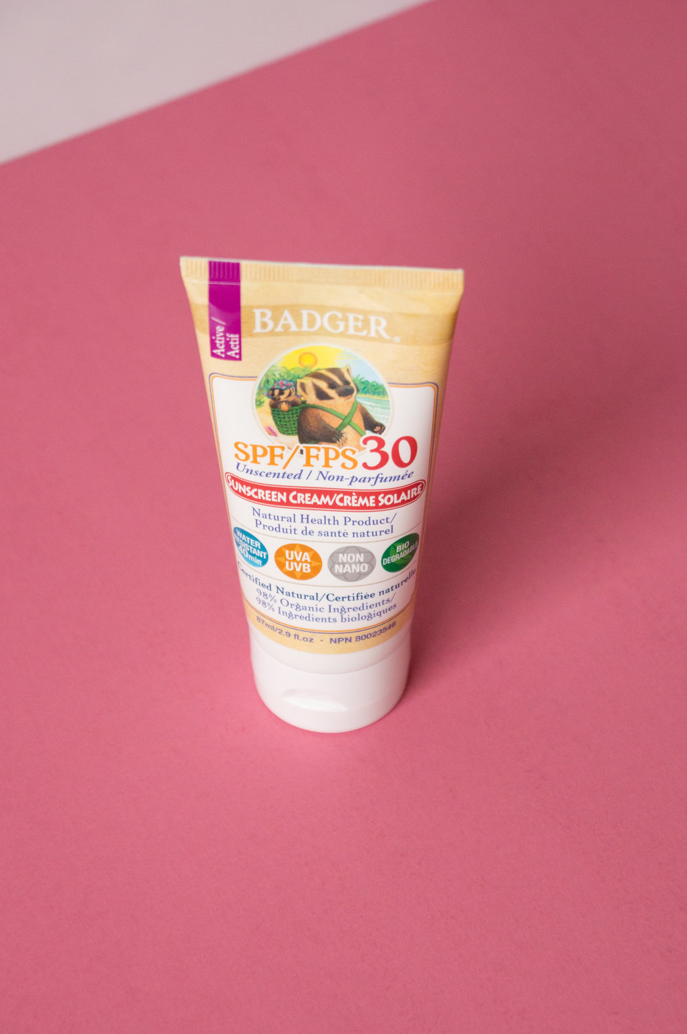 Badger SPF 30 Unscented Sunscreen Review