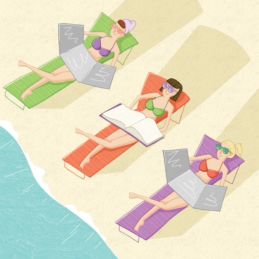 Editorial Illustration: Summer Reading Article