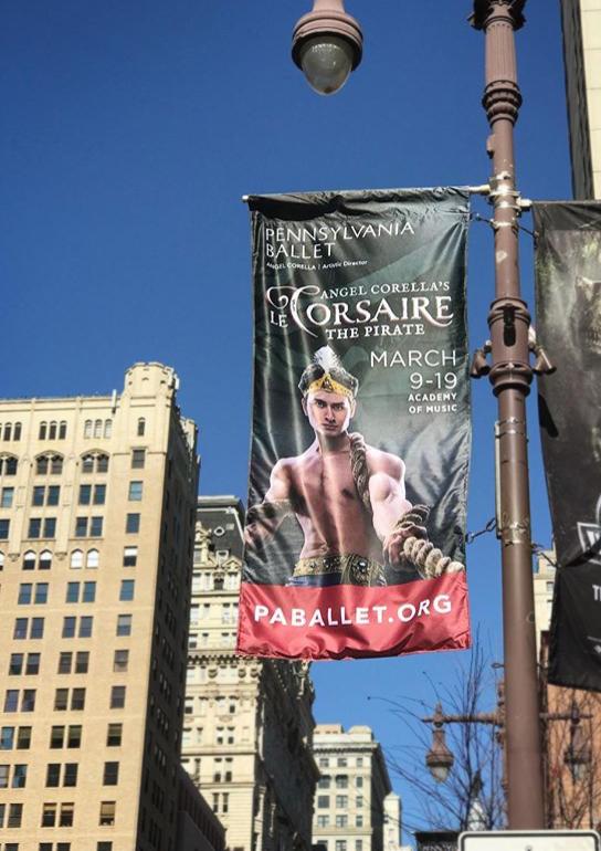 CCD Banner on Broad Street, Philadelphia