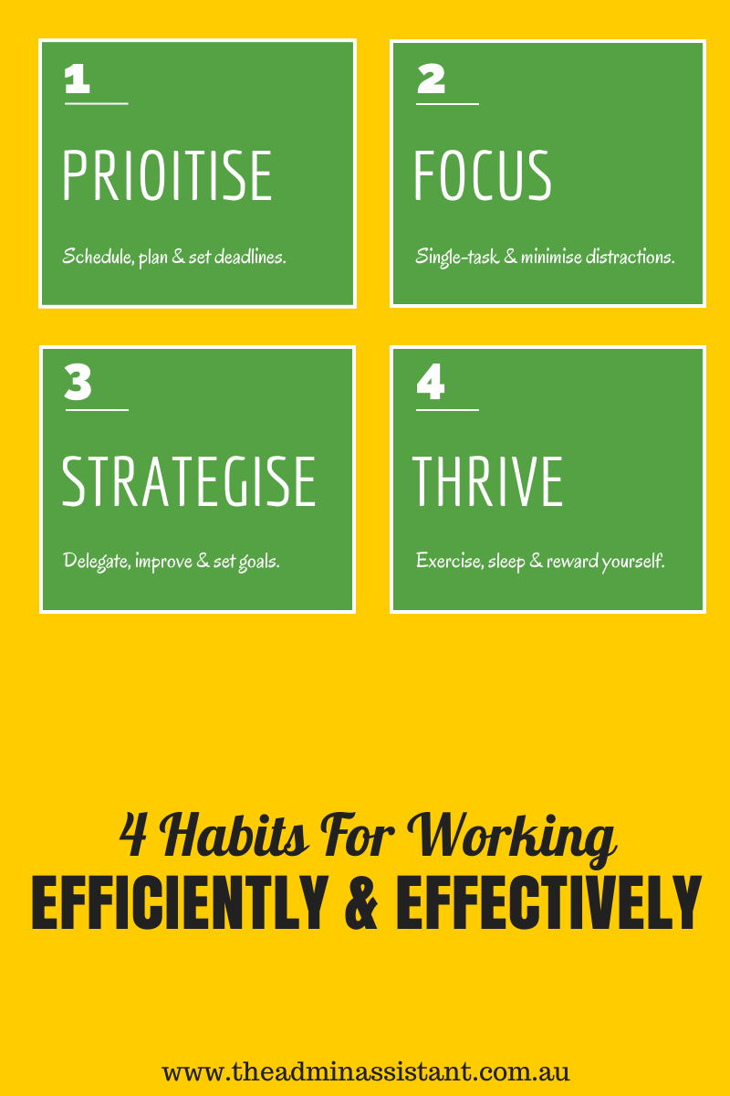 [Infographic] 4 Habits For Working Efficiently & Effectively