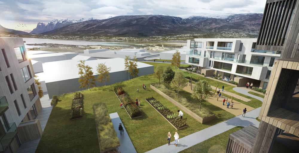 GRØNT: Einerhagen legger stor vekt på grønne områder.
