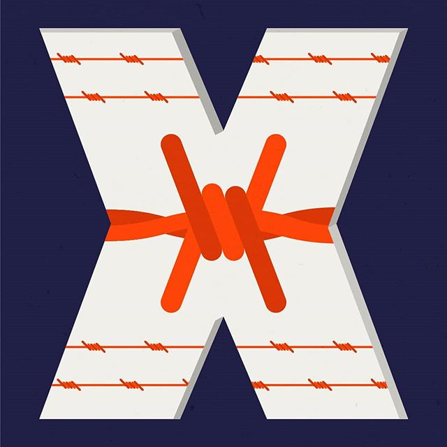 People kept asking me what I was going to do for this letter. Well, here it is.  X is for Xenophobia. Intense or irrational dislike or fear of people from other countries.  Follow my work: #clrdesignz #36daysoftype_t #36daysoftype05 #typespire #typematters #typography #graphicdesigncentral #graphicdesign #gdblog #simplycooldesign #design #designarf #designspiration #greed #Government #bydesigners #goodtype #illustration #typematters #yownw #designarf #picame #illustration #politics