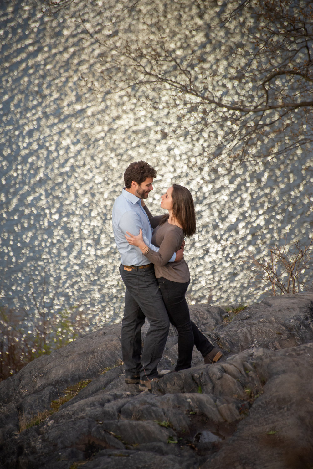Central Park Harlem Meer Engagement Photos 3