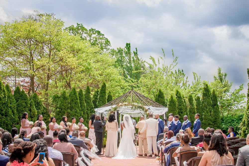 Douglaston Manor Outdoor Wedding Ceremony