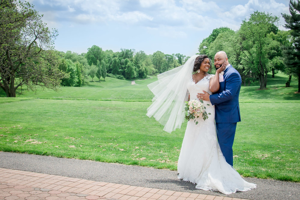 Douglaston Manor wedding portrait