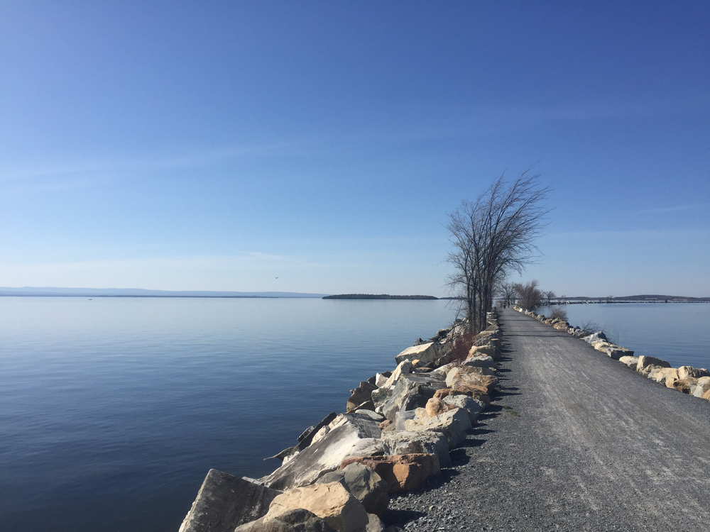 Stretching north from Burlington and tracing the lake's edge, this bikepath culminates in a several mile long causeway into the middle of the lake. Pedaling this path is an amazing way to enjoy one of the largest lakes in the country!
